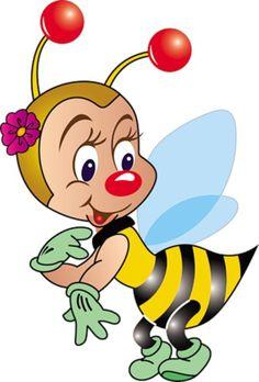 Cartoon image of a bee pieces) Bee Crafts, Diy And Crafts, Crafts For Kids, Paper Crafts, Cartoon Images, Cartoon Drawings, Art Drawings, Cartoon Illustrations, Cute Alphabet