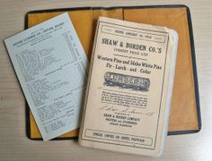 1914 Shaw and Borden Lumber Price Book in by leapinglemming, $15.95