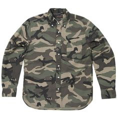 Beams Plus Button Down Camouflage Shirt