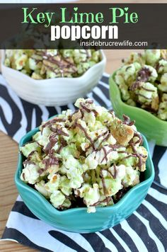 Key Lime Pie Popcorn from http://www.insidebrucrewlife.com - a tropical twist to chocolate covered popcorn #keylime #duncanhines #popcorn