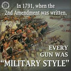 """And the year after that, Congress passed a law requiring every able bodied man between the ages of 18 and 45 to own a firearm """"of the type common used by infantry."""" -JCN"""