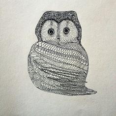 Owl by Maja Säfström, Majas bok. Illustrators On Instagram, Interior Inspiration, Artsy, Birds, Instagram Posts, Cute, Prints, Animals, Design