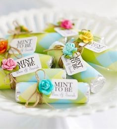 DIY Wedding Favors - Mint Favors