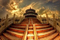 Temple Of Heaven, Bejing China...the steps are steep and semi-endless, but so worth it!