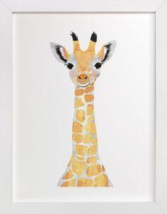 baby animal.giraffe by Cass Loh at minted.com