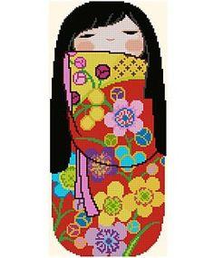 Japanese Kokeshi Doll 5 - EMI. $5.00, via Etsy.