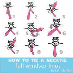 How to Tie Tie: Full Windsor Knot