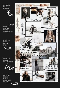 Photo Collage - Ideas That Produce Nice Photos Irrespective Of Your Talent! Instagram Grid, Instagram Posts, Instagram Puzzle Photo, Mood Instagram, Blogger Templates, Templates Free, Grid Design, No Photoshop, Aesthetic Backgrounds