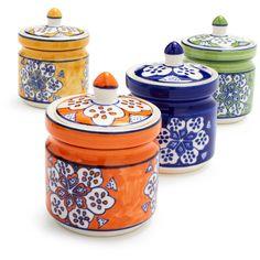 Floral Spice Jars   Sur La Table