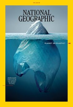 A look at the iconic cover the June 2018 'National Geographic' by Jorge Gamboa and the magazine's new multi-year campaign 'Planet or Plastic?' which aims to combat global plastic pollution. National Geographic Cover, National Geographic Photography, Art Environnemental, Magazine Front Cover, Magazine Covers, Plakat Design, Ocean Pollution, Save Our Earth, Mexican Artists
