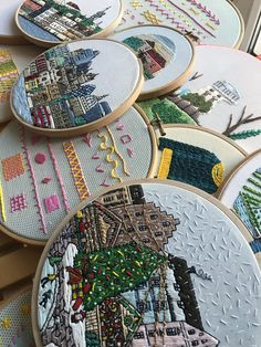 FaimyxStitch - architectural hand embroidery patterns by FaimyCrossStitch Hand Embroidery Patterns, Big Project, Etsy Seller, Unique Jewelry, Handmade Gifts, Design, Tambourine, Kid Craft Gifts, Hand Made Gifts