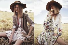 Australian Vogue, December 2012, floppy, florals, headpieces, Linda Jefferyes, Meg Gray, Nicole Bentley, Rosie Tupper, Sophie Roberts