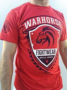 Warhorse Fightwear T Shirt. mma, clothing, fight wear, #warhorse