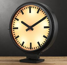 Metro Lighted Train Station Clock - would be cool on our bathroom counter...