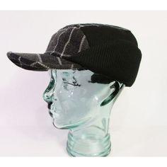 Dockers Men s Winter Visor Cap with Earflaps Size S M Black Plaid  DOCKERS   26b0782f34d8