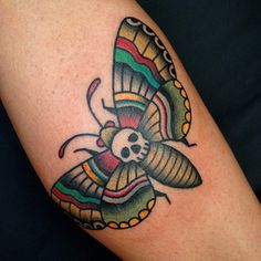traditional moth tattoo flash - Google Search