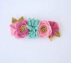 Mini Mermaid Felt Flower Crown / Adjustable Headband / Photo Prop / Birthday Girl / First Birthday / Mermaid Hair / Baby Girl / Toddler Girl by littleWildPetals on Etsy https://www.etsy.com/listing/244002553/mini-mermaid-felt-flower-crown