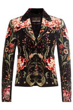 Roberto Cavalli Roberto Cavalli Print-Blazer aus Samt – Multicolor
