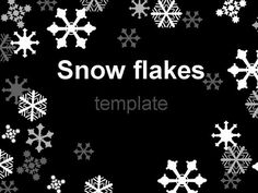 White Snowflake Template on Black Background #christmas #classy # presentationmag