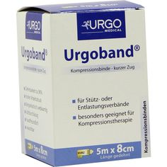 URGOBAND Kurzzugbinde 8 cmx5 m:   Packungsinhalt: 1 St Binden PZN: 03844773 Hersteller: Urgo GmbH Preis: 9,18 EUR inkl. 19 % MwSt. zzgl.…