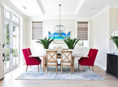 20 Awesome Red Accent Chairs in the Dining Room