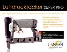 Luftdrucktacker - SUPER PRO Tacker, Magnesium, Super, Air Filter, Canvas Frame, Tips