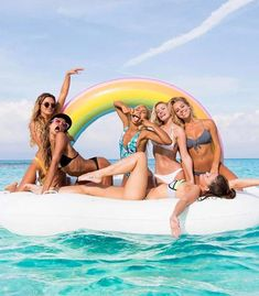 Giant Inflatable Rainbow Cloud Pool Float 2018 Newest Summer Ride-On Swimming Ring Adults Water Party Toys Piscina(China) Giant Inflatable Pool Floats, Giant Pool Floats, Rainbow Pools, Rainbow Cloud, Rainbow Water, Beach Pool, Summer Beach, Summer Pool, Pool Fun