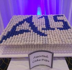 Cake pop display for Avendra 15 Year Anniversary Event at Bethesda North Marriot. Planning & Coordination by  Favored by Yodit Events | DC Event Planner