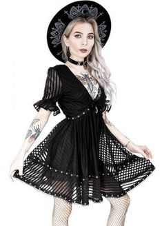 Restyle Lace Mesh Dolly Dress | Attitude Clothing Gothic Outfits, Gothic Dress, Scene Girl Fashion, Dolly Dress, Gorgeous Lingerie, Scene Girls, Mesh Skirt, A Line Skirts, Beautiful Dresses