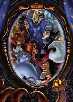 Diamond Painting Magic Mirror of Disney Villains Kit Walt Disney, Evil Disney, Disney Love, Disney Art, Disney Pixar, Evil Villains, Disney Villains, Disney Characters, Disney Tattoos