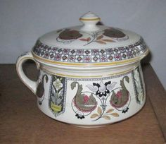 Antique Brownfield Chamber Pot & Lid