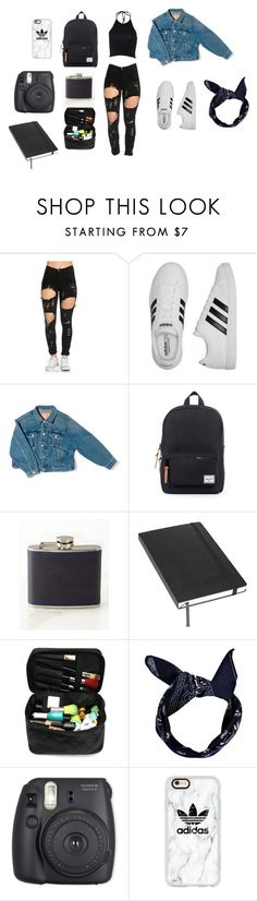 """Teenage Dirtbag"" by heleen-marais ❤ liked on Polyvore featuring adidas, Balenciaga, Moleskine, Boohoo, Fuji and Casetify"