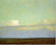 Maynard Dixon - Cattle Drive Painting