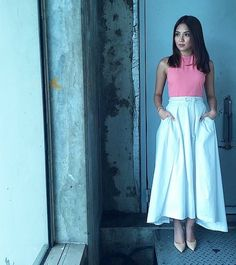 Photo from dearteamkn Child Actresses, Child Actors, Filipina Actress, Kathryn Bernardo, Style Icons, Asian Girl, Fashion Models, Midi Skirt, High Waisted Skirt