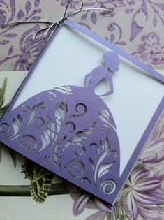 Lace  Bridal Shower Invitation Laser Cut by CelineDesigns on Etsy, $3.99