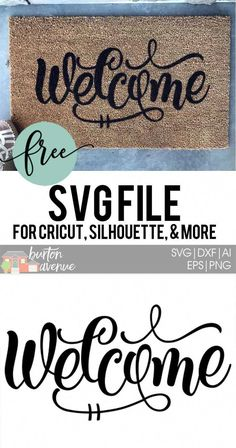 Learn how to stencil your own doormat, plus get a free Welcome SVG file. Works with Silhouette, Cricut, and other electronic cutters. #test