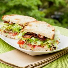 Quite possibly the best sandwich ever - the BLAAT - Bacon, lettuce, avocado, alfalfa sprouts, and tomato!