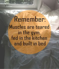 """love this, but the grammar nazi in me is irritated: *""""Muscles are TORN in the gym,..""""*  rh"""