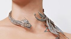 Silver dragon jewelry from Game of Thrones artists themselves - . - Jewelry of dragons in silver from own Game of Thrones artists – - Dragon Necklace, Dragon Jewelry, Dragon Bracelet, Dragon Ring, Cute Jewelry, Jewelry Accessories, Unique Jewelry, Cheap Jewelry, Luxury Jewelry