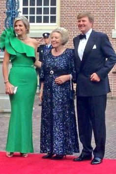 King Willem-Alexander, Queen Maxima and Pricness Beatrix host a gala dinner in honor of the visiting Prince Albert of Monaco June 3, 2014