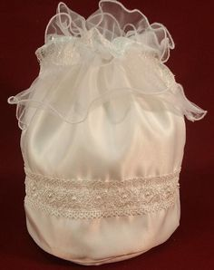 White or Ivory Money Bag Wedding Dance Large by OpenSun on Etsy