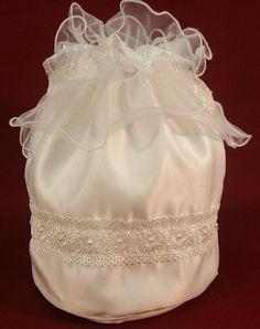White or Ivory Money Bag Wedding Dance Large by OpenSun on Etsy