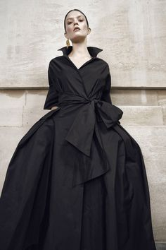 Black wrap dress Enjoying The Sun, New Look, Wrap Dress, Couture, Coat, How To Wear, Collection, Black, Instagram