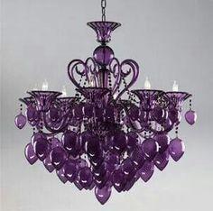 Ahh...a purple chandelier!