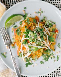 Spaghetti Squash Pad Thai by a couplecoooks #Pad_Thai #Spaghetti_Squash #Healthy #Light