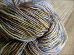 papyrus - hand dyed yarn, superwash merino wool sock yarn, single-ply, kettle dyed gray yarn on Etsy, $18.00