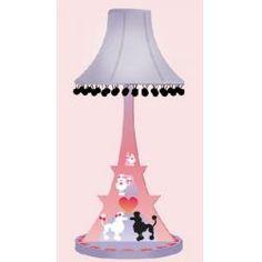 Poodles in Paris Lamp Room Magic RM60-PP