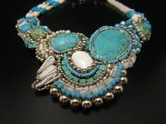 Turquoise Statement  Necklace - Native American Inspired Bib. $600.00, via Etsy.