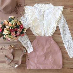 image Tumblr Outfits, Girly Outfits, Skirt Outfits, Casual Outfits, Cute Outfits, Moda Chic, Ladies Dress Design, Passion For Fashion, Korean Fashion