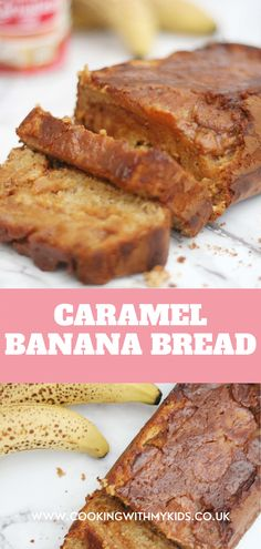 Caramel banana bread takes a regular banana bread to the next level with some delicious caramel swirled through it. And with everything mixed together in one bowl, it couldn't be easier, making it perfect for kids. #caramel #banana bread #loaf #easy recipe #how to make #for kids #baking with kids #banana loaf #homemade #baking with kids Baking With Kids, Toddler Fun, Baking Recipes, Banana Bread, Pray, Biscuits, Caramel, Homemade, Cooking